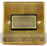 Standard Plate Antique Bronze Fan Isolator Switches